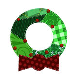 Fabric Wreath Stock Image