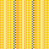 Fabric with yellow pinstripes stock illustration