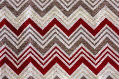 Fabric with zig zag pattern Stock Images