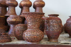Fabricação cerâmica chinesa da cerâmica - fase de cobre do quadro Fotos de Stock Royalty Free