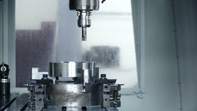 Fabricação da máquina na planta video estoque