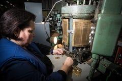 Fabricação das peças para relógios Fotos de Stock Royalty Free