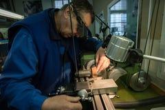 Fabricação das peças para relógios Fotos de Stock