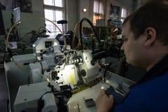 Fabricação das peças para relógios Fotografia de Stock Royalty Free