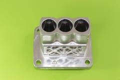 A fabricação de alumínio automotivo da parte pela baixa pressão morre molde fotografia de stock royalty free