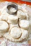 Fabricação de biscoitos do sul da vista aérea, vertical Foto de Stock Royalty Free