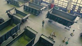 Fabricação de caminhões vídeos de arquivo