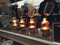 Fabricação de cerveja do café Foto de Stock Royalty Free