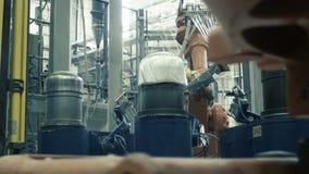 Fabricação de fibra do carbono para a indústria automóvel video estoque