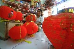 Fabricação de lanternas Imagens de Stock Royalty Free