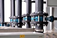 Fabricação de purificação da água e dos líquidos imagem de stock
