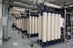 Fabricação de purificação da água e dos líquidos foto de stock