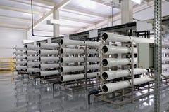 Fabricação de purificação da água e dos líquidos fotos de stock