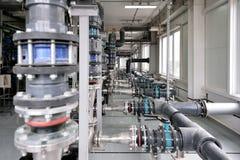 Fabricação de purificação da água e dos líquidos imagem de stock royalty free