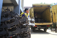 Fabricação do equipamento de peso Imagens de Stock