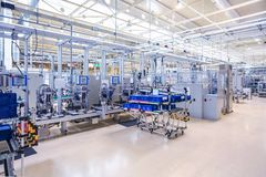 Fabricação do motor de automóveis Imagens de Stock