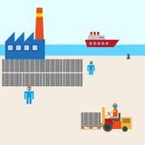 Fabricação do porto do barco ilustração stock