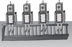 Fabricação do robô Imagens de Stock Royalty Free