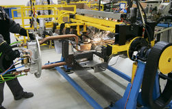 Fabricação dos carros Fotografia de Stock