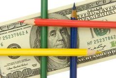Fabricação ilegal do dinheiro. Foto de Stock