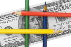 Fabricação ilegal do dinheiro. Fotos de Stock Royalty Free