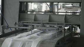 A fabricação plástica das lancheiras, pacote descartável do alimento acautela-se a linha de produção filme