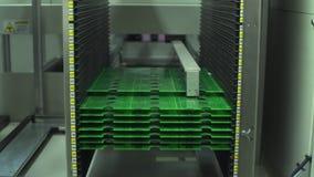 Fabricación de alta tecnología de la placa de circuito almacen de video