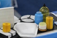 Fabricación de alta tecnología del filtro del aire y de aceite Fotos de archivo