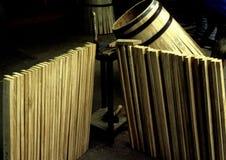 Fabricación de barriques Imagenes de archivo