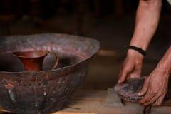 Fabricación de cobre Foto de archivo libre de regalías