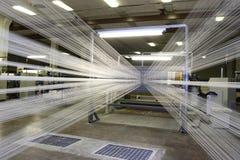 Fabricación de cuerdas de rosca Imagenes de archivo