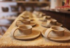 Fabricación de la cerámica Fotografía de archivo libre de regalías