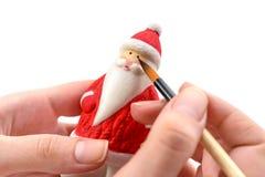 Fabricación de la decoración de la Navidad imagen de archivo