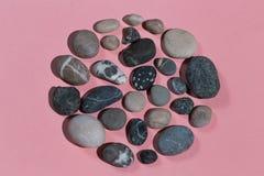 Fabricación de la imagen con las piedras Foto de la visi?n superior fotografía de archivo