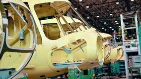 Fabricación de la industria de la planta de la aviación del helicóptero metrajes