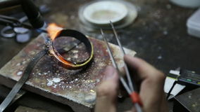 Fabricación de la joyería almacen de metraje de vídeo