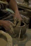 Fabricación de la loza de barro Imagen de archivo libre de regalías