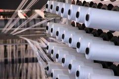 Fabricación de la materia textil Imágenes de archivo libres de regalías