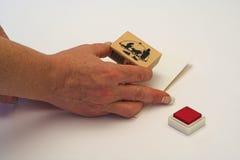 Fabricación de la tarjeta. Fotografía de archivo libre de regalías