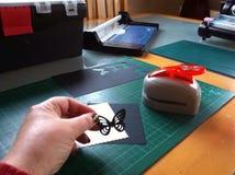 Fabricación de la tarjeta Imagenes de archivo