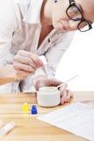 Fabricación de los cosméticos Foto de archivo libre de regalías