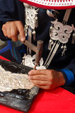 Fabricación de los cubiertos Foto de archivo libre de regalías