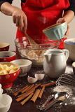 Fabricación de los molletes Foto de archivo