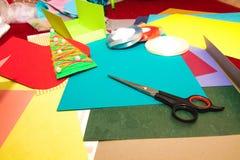 Fabricación de tarjetas del día de fiesta Fotografía de archivo