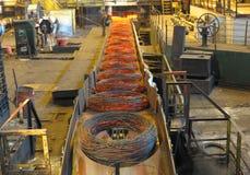 Fabricación de un alambre de acero Foto de archivo libre de regalías