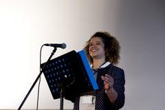 Fabricación de un discurso Imagen de archivo libre de regalías