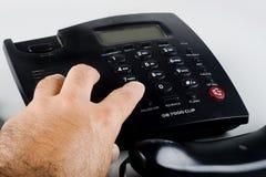 Fabricación de una llamada de teléfono imágenes de archivo libres de regalías