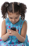 Fabricación de una llamada de teléfono Imagen de archivo libre de regalías