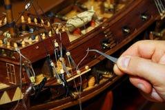 Fabricación del barco de madera Foto de archivo