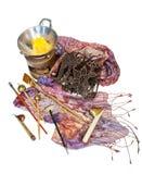 Fabricación del batik Fotografía de archivo